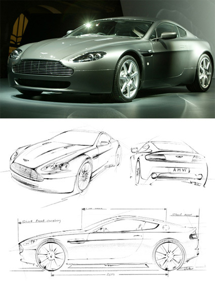 aston-martin-v8-and-sketches