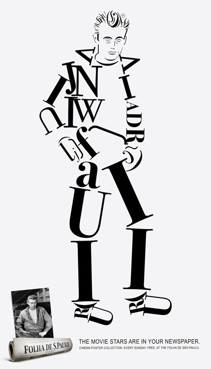 james-dean-font-art