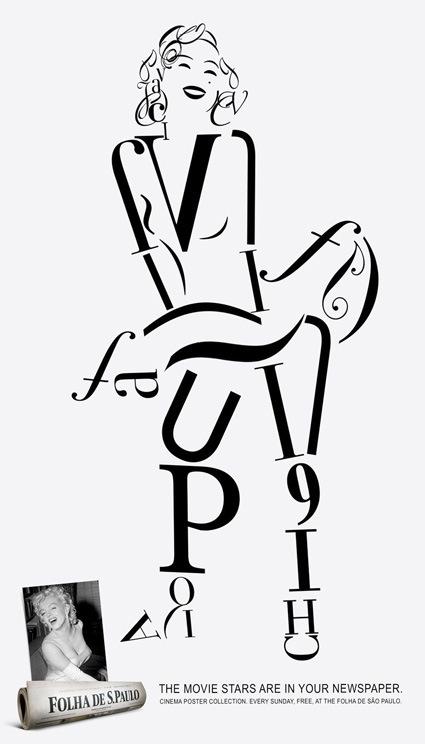 marilyn-monroe-font-art